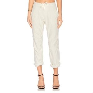 James Perse Heathered Knit Twill Pant